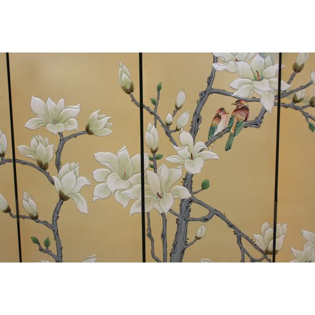 Chinese Spring Moon Blossom Room Divider Screen - Part 3