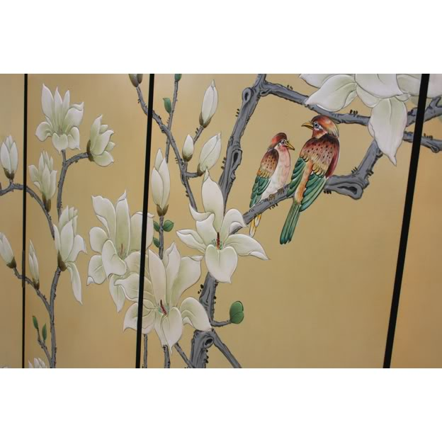 Chinese Spring Moon Blossom Room Divider Screen - Part 4