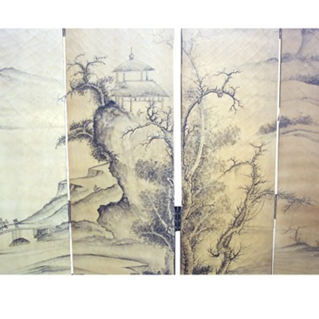 Chinese Mountains Senary Room Divider Screen - Part 2