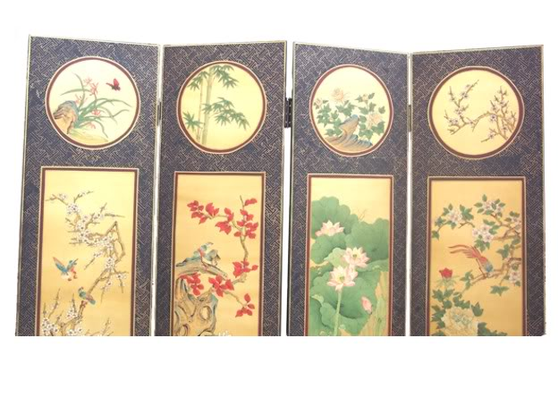 Chinese Four Seasons Plant Screen - Part 3