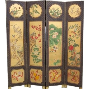 Chinese Four Seasons Room Divider Screen