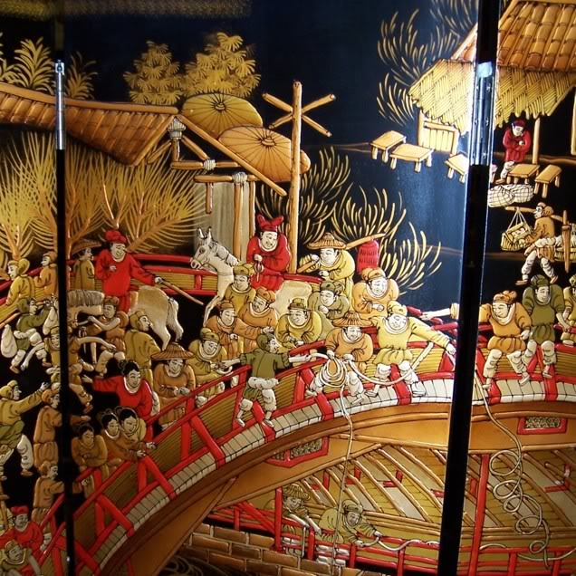 Upper River During Qing Ming Festival Screen/Room Divider - Detail 1-3