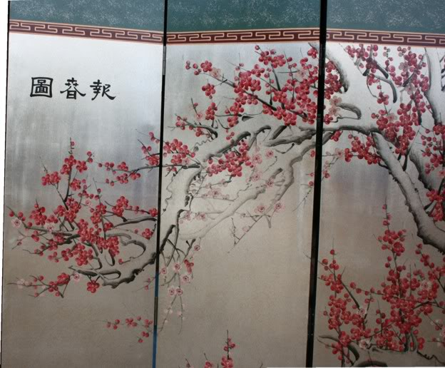 Oriental Room Divider Screen - Cherry blossom room divider screen