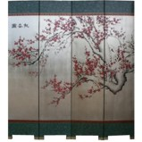 Silver Leaf Cherry Blossom Room Divider Screen