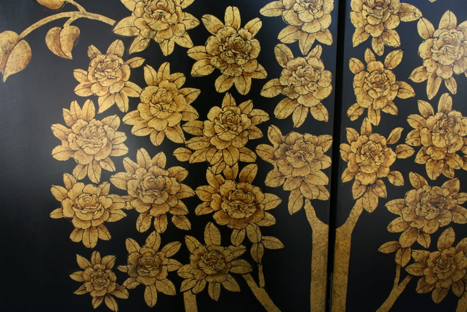 Gold Money Tree Room Divider