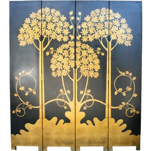 The Gold Money Tree Room Divider Screen