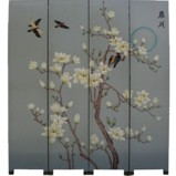Chinese Screen - Moon in Spring Dark