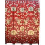 Chinese Red and Gold Phoenix Room Divider Screen