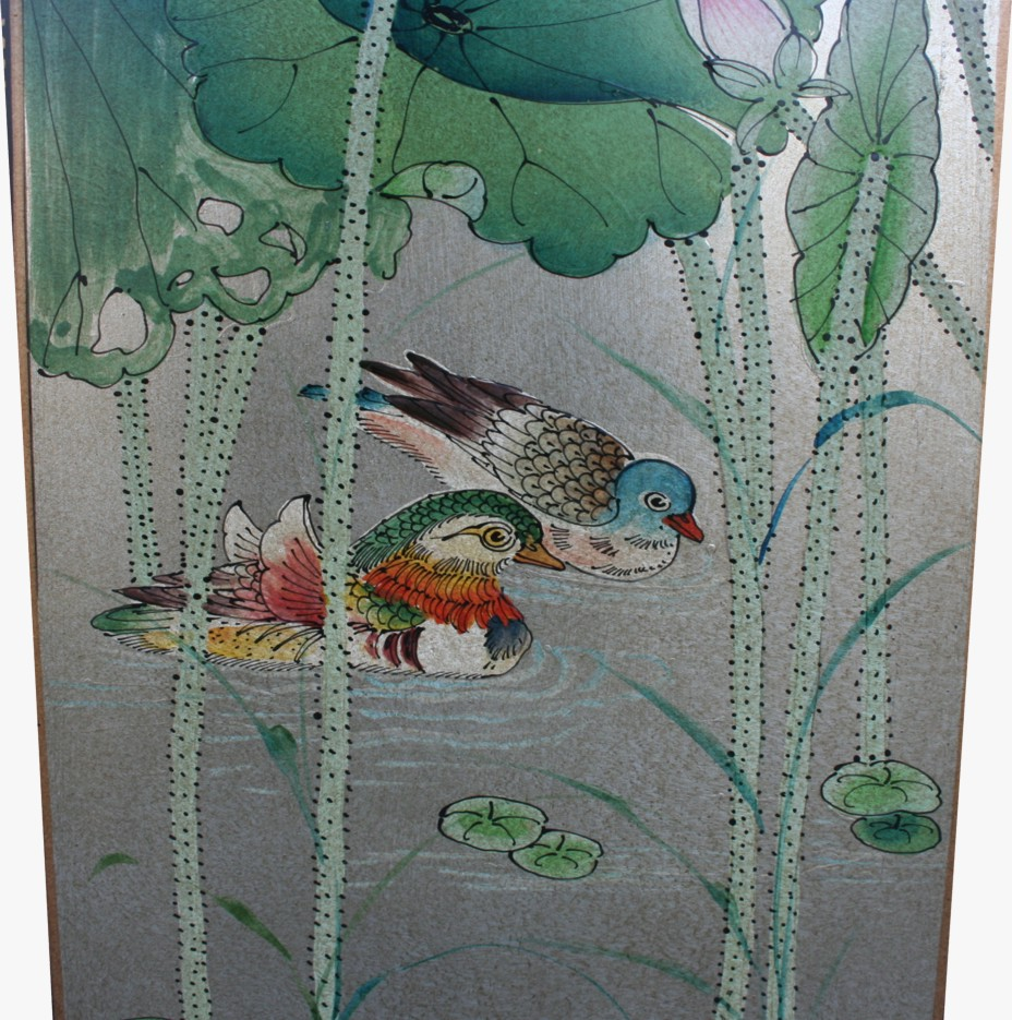 Chinese Four Seasons Plant Room Divider Screen - Detail 2