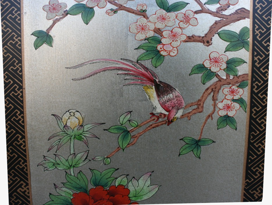 Chinese Four Seasons Plant Room Divider Screen - Detail 4