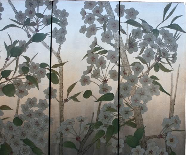 Beautiful Wild Flower Blossom Room Divider Screen
