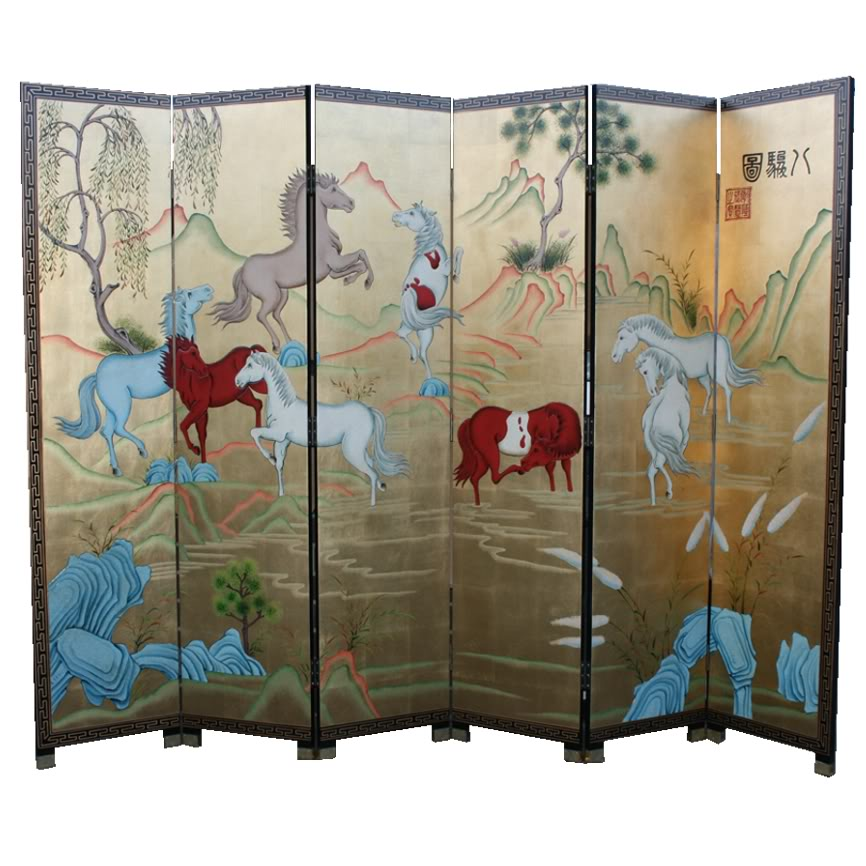 Eight Horses Screen/Room Divider