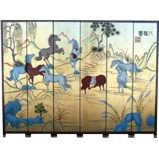 Eight Steeds Screen Room Divider