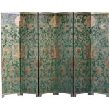 French Gold Leaf Room Divider Screen - Coloured Sun Flowers