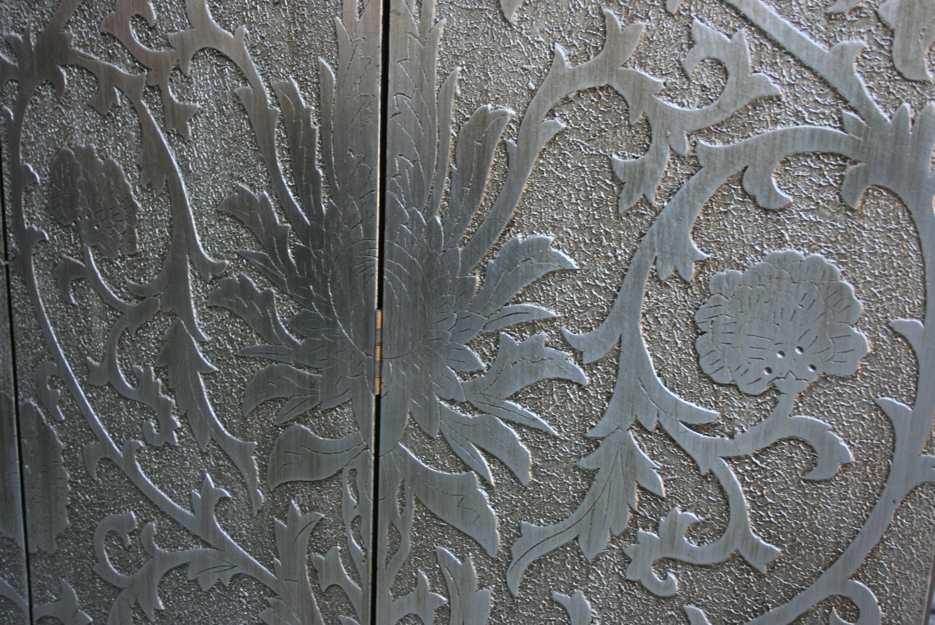 Art Inspired Silver Screen - French Style Sun Flowers Detail