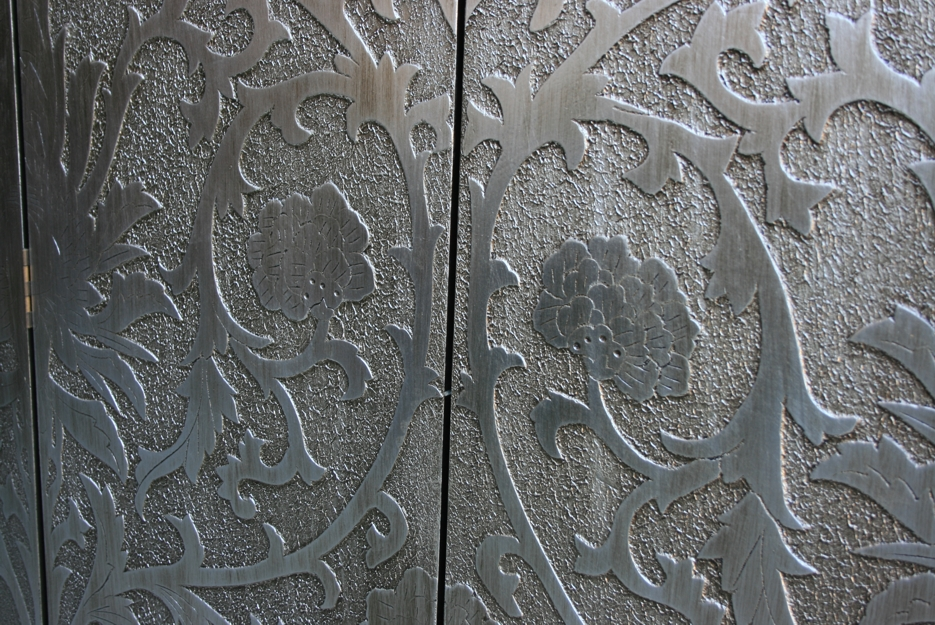 Art Inspired Silver Screen - French Style Sun Flowers Detail 3