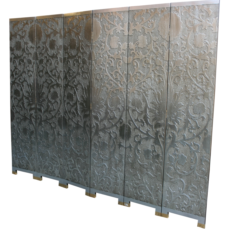 Art Inspired Silver Screen - French Style Sun Flowers Detail 4
