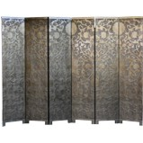 French Gold Leaf Room Divider Screen - Sun Flowers
