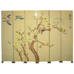 Chinese Room Divider Screen - Moon in Spring
