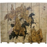 Ancient Chinese Warrior Room Divider Screen