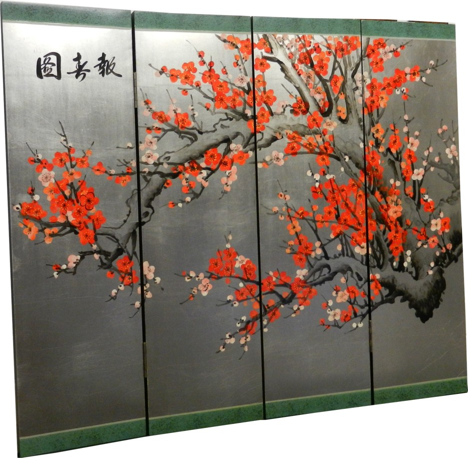Cherry Blossom Four Panel Screen - Part 4