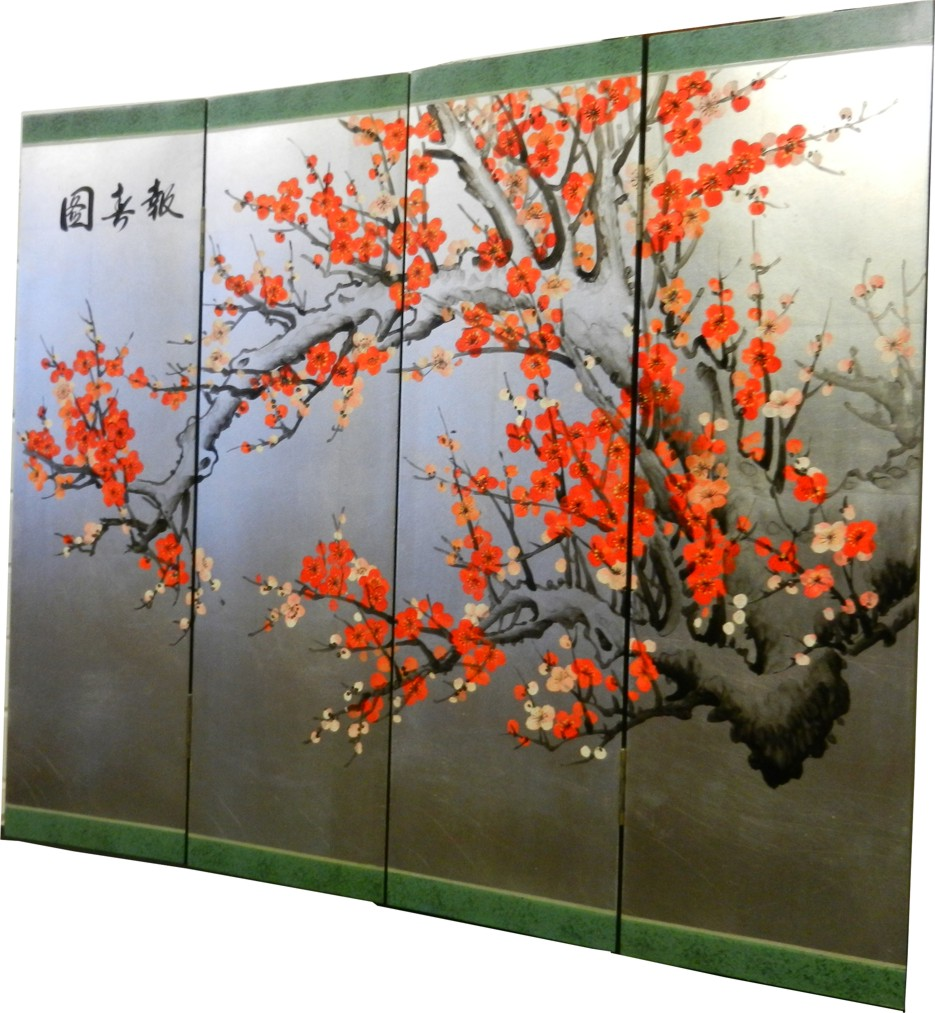 Cherry Blossom Four Panel Screen - Part 3