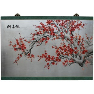 Cherry Blossom Wall Hanging Screen-Silver Leaf