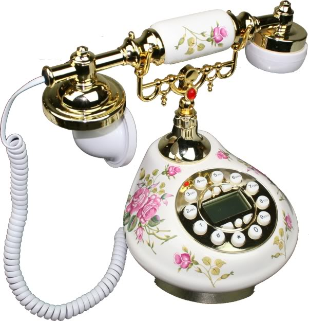 Antique Style Practical Porcerlain Telephone