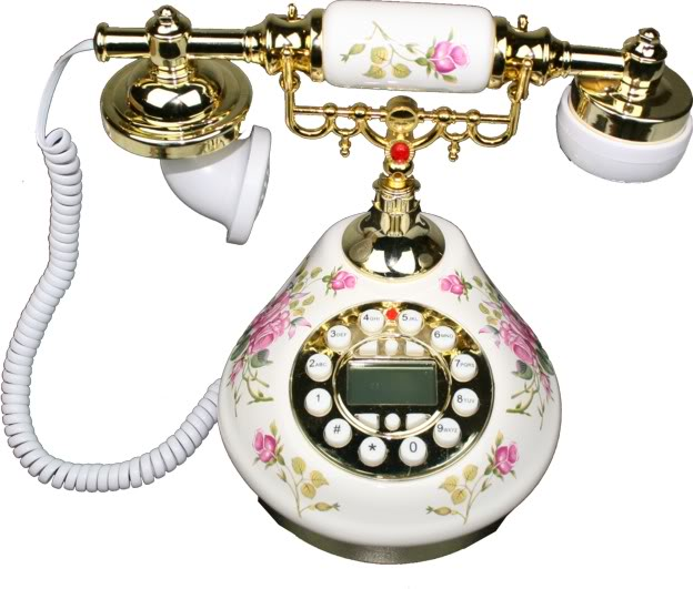 Antique Style Practical Porcerlain Telephone -Detail 1
