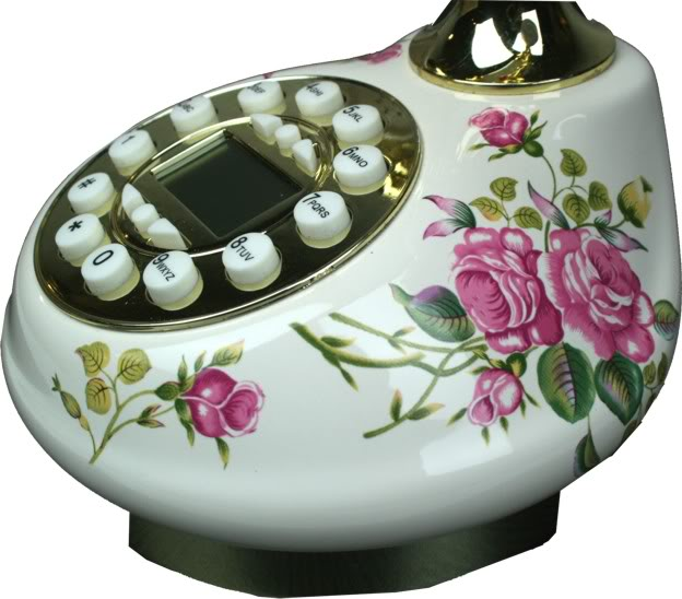 Antique Style Practical Porcerlain Telephone -Detail 3