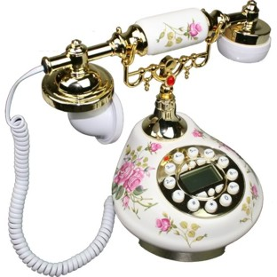 Antique Style Practical Porcelain Telephone