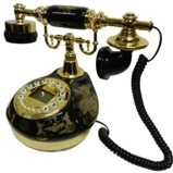 Antique Style Black Porcelain Telephone