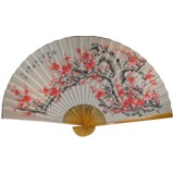 Large Cherry Blossom Bamboo Wall Hanging Fan