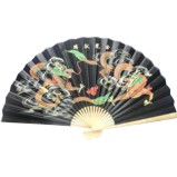 Oriental Dragon Bamboo Wall Hanging Fan