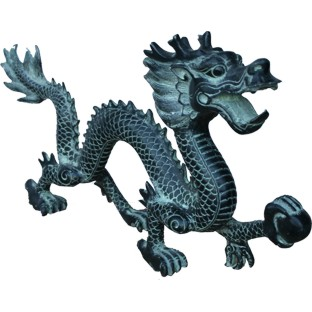 Chinese Bronze Dragon 39 cm