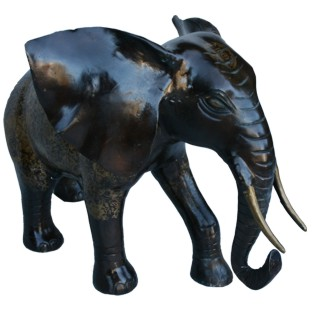 50cm Brass Fortune Elephant Statue
