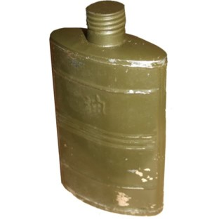 Vintage Crusted Army HIP-Flask