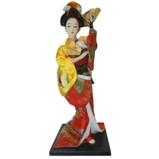 Japanese Kimono Geisha Doll - Holding Fan