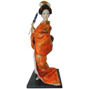 Japanese Kimono Geisha Doll - Holding Umbrella
