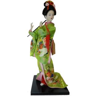 Japanese Kimono Geisha Doll - Flute Playing