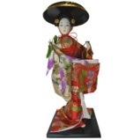 Japanese Kimono Geisha Doll - Hat Girl