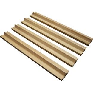 Set of 4 Mahjong Wood Rails