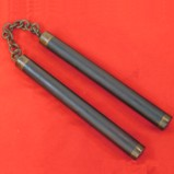 Hard Wood Nunchucks with Brass Fittings
