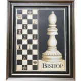 Wall Hanging Chess Piece Display Bishop