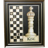 Wall Hanging Chess Pieces Display King