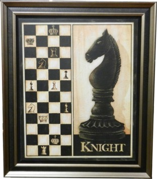 Wall Hanging Chess Pieces Display Knight