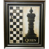 Wall Hanging Chess Pieces Display Queen