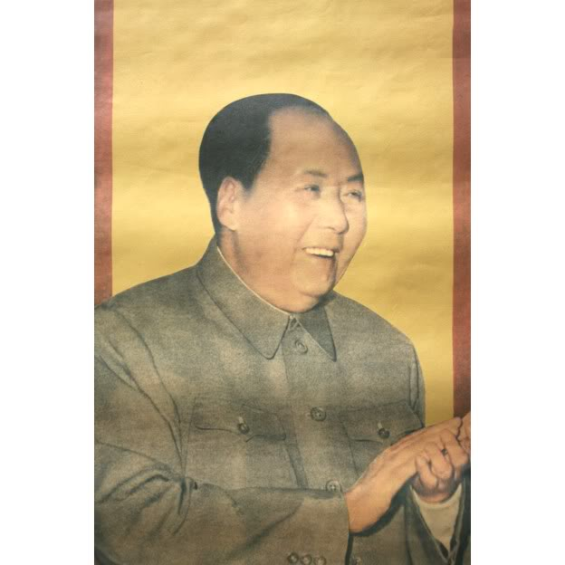 Old shanghai poster for Chairman mao