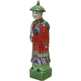 Porcelain Chinese Qing Dynasty Emperor Qianlong Statue