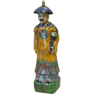 Porcelain Chinese Qing Dynasty Emperor Yongzhen Statue